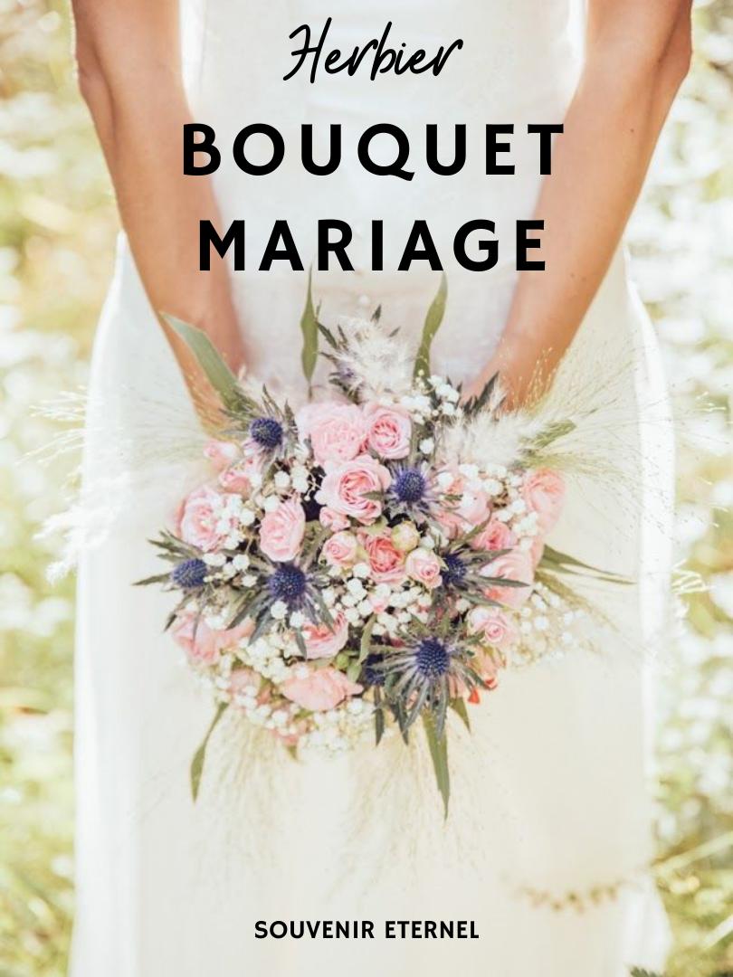 herbier bouquet mariage